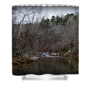 Winter On The Eno River At Fews Ford Shower Curtain
