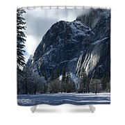 Winter On The Valley Floor Shower Curtain