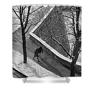 Winter On The Walls Of Bergamo Shower Curtain