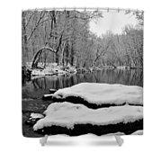 Winter On The Wissahickon Creek Shower Curtain