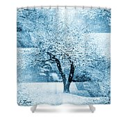 Winter Orchard Shower Curtain