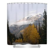 Winter Over Red Mountain Shower Curtain