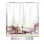 Winter Painting Vii. Aquarel By Nature Shower Curtain
