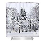 Winter Park Landscape Shower Curtain