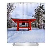 Winter Peace Bell Shower Curtain