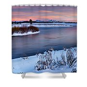 Winter Quiet And Colorful Shower Curtain