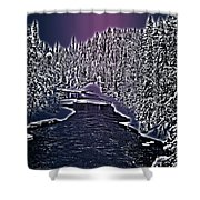 Winter River Oulanka National Park Lapland Finland  Shower Curtain