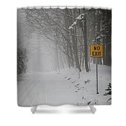 Winter Road During Snowfall I Shower Curtain