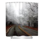 Winter Road Trip Shower Curtain