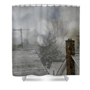 Winter Rooftops Shower Curtain