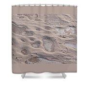 Winter Sand Art Shower Curtain