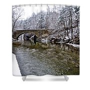 Winter Scene At Valley Green Shower Curtain