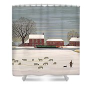 Winter Scene In Lincolnshire Shower Curtain by Vincent Haddelsey