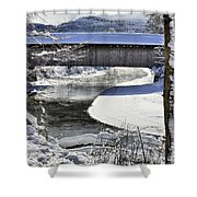 Winter Scene In Montgomery Shower Curtain