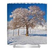 Winter Season On The Plains Portrait Shower Curtain