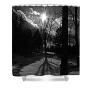 Winter Shadow Shower Curtain