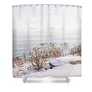 Winter Shore Of Lake Ontario Shower Curtain