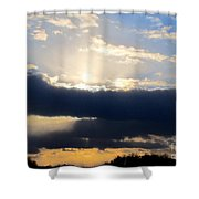 Winter Skyscape Shower Curtain