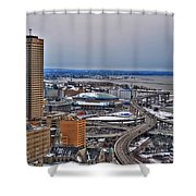 Winter Skyway Downtown Buffalo Ny Shower Curtain