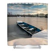 Winter Sleep Shower Curtain