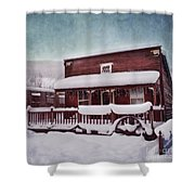 Winter Sleep Shower Curtain by Priska Wettstein