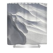 Winter Snow Drift Sculpture  Shower Curtain