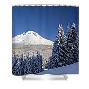 Winter Snow Over The Cascade Range Shower Curtain