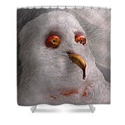 Winter - Snowman - What Are You Looking At Shower Curtain