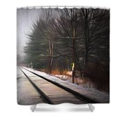 Winter Splash Xxxiii Shower Curtain