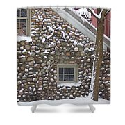 Winter Stone Pattern Shower Curtain