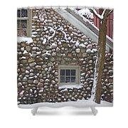 Winter Stone Pattern Shower Curtain