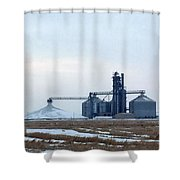 Winter Storage II Shower Curtain