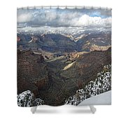 Winter Storm At The Grand Canyon Shower Curtain