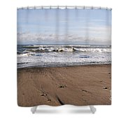 Winter Storm In New Hampshire Art Print Shower Curtain