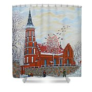 Winter Sunday Shower Curtain