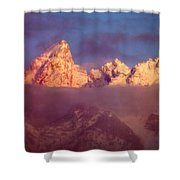 1m9333-winter Sunrise On Teton Range Shower Curtain