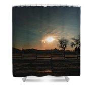 Winter Sunrise On The Farm 02 Shower Curtain
