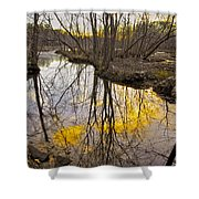 Winter Sunset At Williston Mill Shower Curtain
