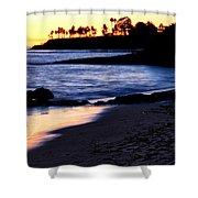 Winter Sunset In Laguna Beach II Shower Curtain