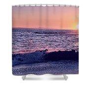 Winter Sunset In Laguna Beach IIi Shower Curtain