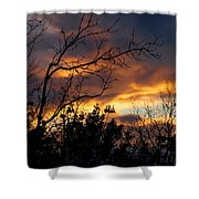 Winter Sunset In The Rogue Valley Shower Curtain