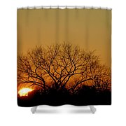 Winter Sunset Shower Curtain by Leeon Photo