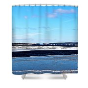 Winter Sunset On The Islands Shower Curtain