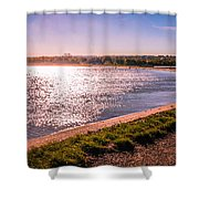 Winter Sunshine Shower Curtain by Dawn OConnor