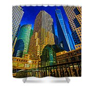Winter Sunshine In Battery Park City Shower Curtain