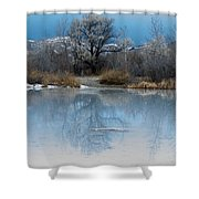 Winter Taking Hold Shower Curtain
