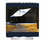 Winter Time At Carter Sheilds Place Shower Curtain