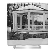 Winter Time Gazebo Shower Curtain