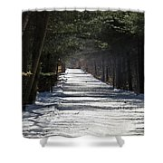 Winter Trail Shower Curtain