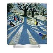 Winter Tree Shower Curtain by Andrew Macara